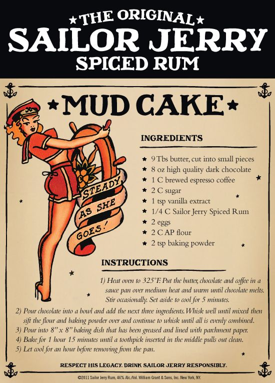 1. Mud Cake | 10 Delicious Recipes Made With Sailor Jerry Rum
