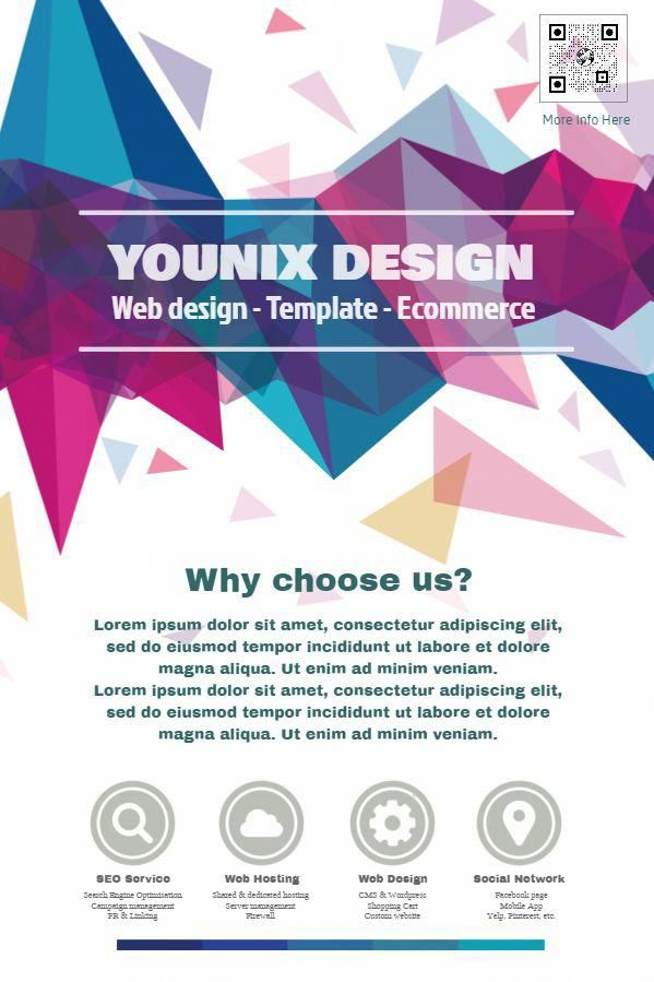 Professional poster social media design template for small