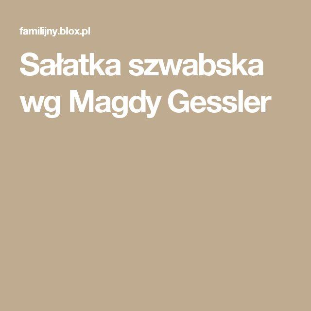 Sałatka szwabska wg Magdy Gessler