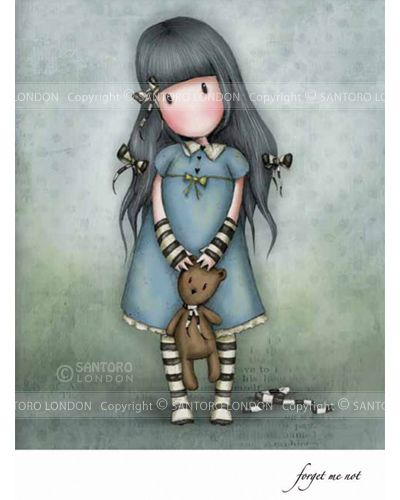 gorjuss girls stamp - forget me not