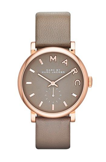 Marc Jacobs 'Baker' Leather Strap Watch
