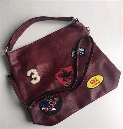 Bayan suni deri bordo spor omuz çantası modelleri en ucuz fiyatlarıyla kapıda ödeme ve taksit ile Outlet Çarşım'da.