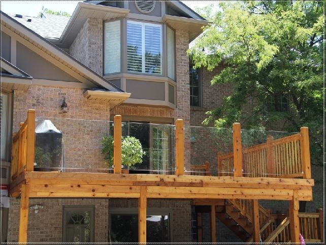 outdoor railing glass - Google Search