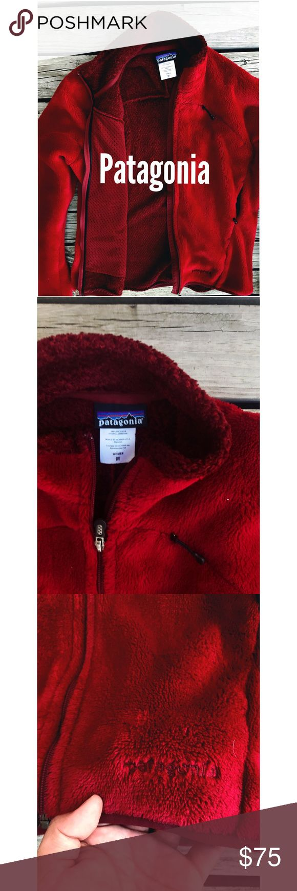 Woman's Patagonia fleece jacket Woman's fleece jacket by Patagonia. Ruby red color. Super soft material. Woman's size Medium. Very good condition. Patagonia Jackets & Coats