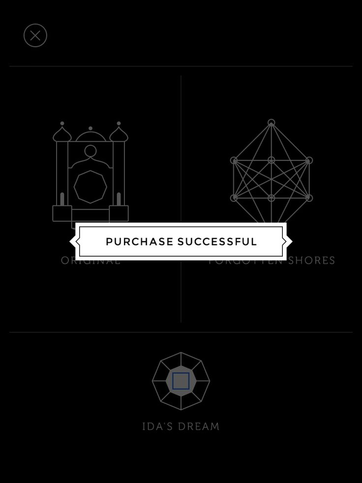 Monument Valley | In Game Purchase Confirmation | UI, HUD, User Interface, Game Art, GUI, iOS, Apps, Mobile Games, Grahic Desgin, Puzzle Game, Brain Games, ustwo | www.girlvsgui.com