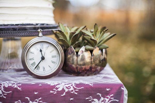 Clock Wedding Decor | Samantha McFarlen Photography on @loveincmag via @aislesociety