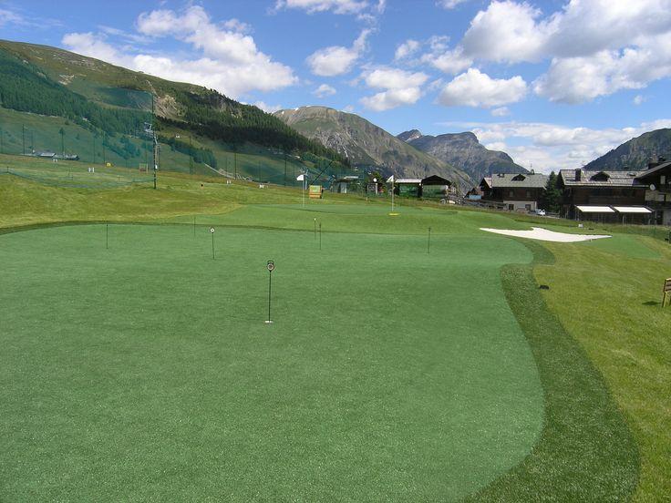 Pitch en pull op de golfbaan van Livigno.