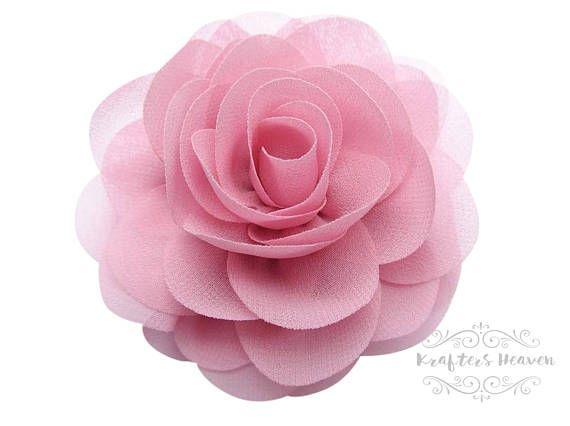 2 flor de gasa rosa polvoriento  bodas  flor  suministros