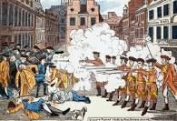 The Boston massacre that killed 5 people. Making changes to the system.