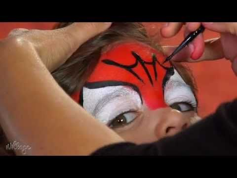 ▶ How To Do Spiderman Face Paint for Kids - YouTube