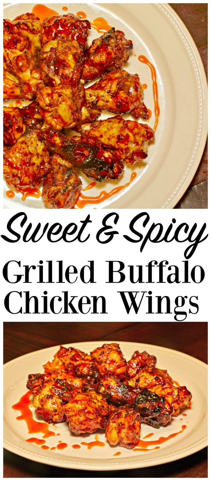 Sweet & Spicy Grilled Buffalo Chicken Wings Recipe | Divine Lifestyle ~ sauce dip healthy flavor dinner meal barbeque appetizer