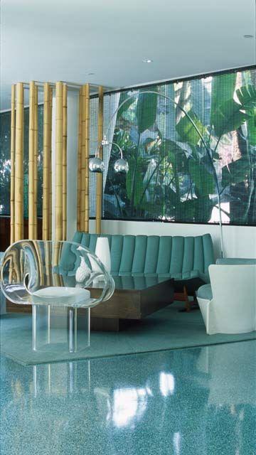 LA interior style - I love the shine and the bamboo.