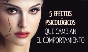 5Efectos psicológicos que cambian nuestro comportamiento