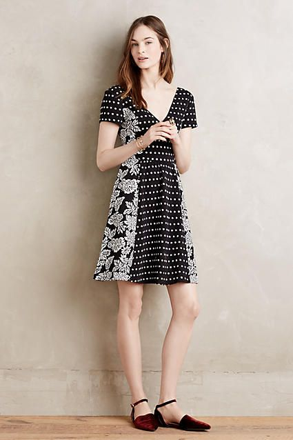 Dotted Fleur Dress - anthropologie.com