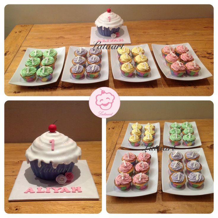 Giant cupcake en cupcakes - Lataart