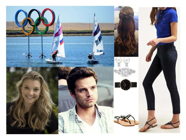"""Watching Team GB at Olympic Sailing events at Weymouth with Fred and Anne"" by pacqueline-ngoya ❤ liked on Polyvore featuring Sebastian Professional, Mystique, CLUSE and Vera Wang"