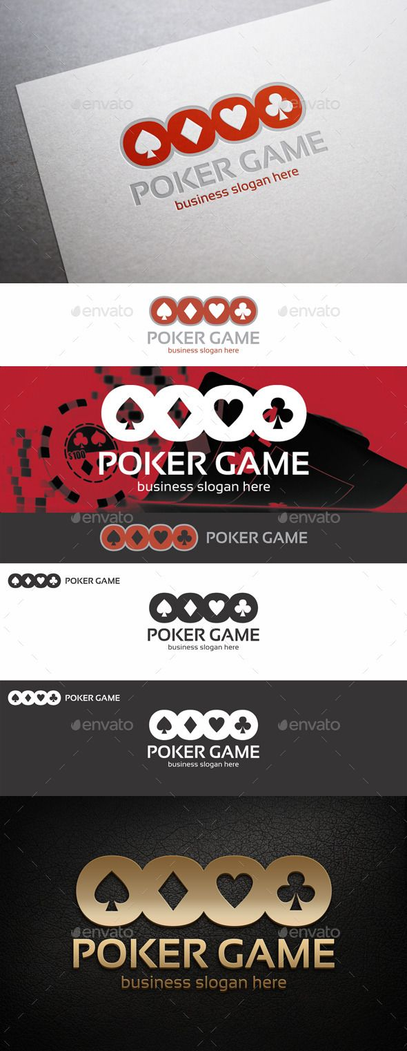 Poker Game Logo — Vector EPS #modern #casino • Available here → https://graphicriver.net/item/poker-game-logo/9311748?ref=pxcr