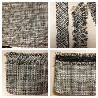 Chanel Tweed Jacket Underway: Trim and Fringe   Just Keep Sewing