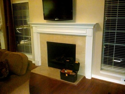 Fredricksburg White Wood Mantel