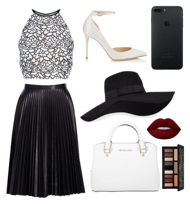 """Untitled #5"" by ralucapopa-1 on Polyvore featuring Cusp by Neiman Marcus, Keepsake the Label, Jimmy Choo, MICHAEL Michael Kors, San Diego Hat Co., Lime Crime and Kat Von D"