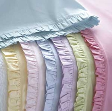 Pretty ruffled sheets