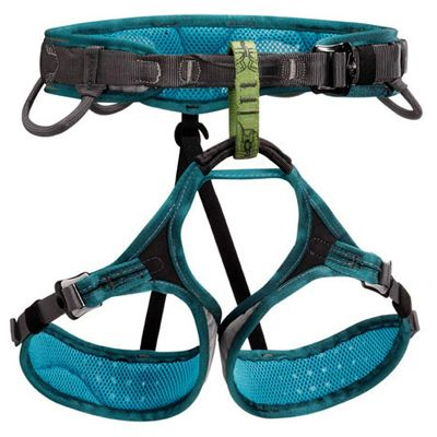 Petzl Luna Harness women's version of the ADJAMA, with fit and comfort characteristics specifically designed for a woman's physique. | at www.weighmyrack.com/ #rock #climbing #gear