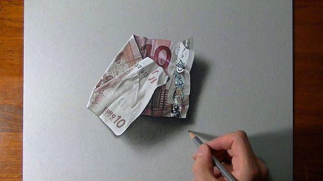 Marcello Barenghi a jeho realistické kresby
