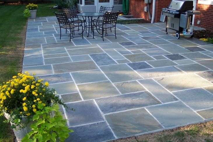 Blue Stone Patio Design Ideas