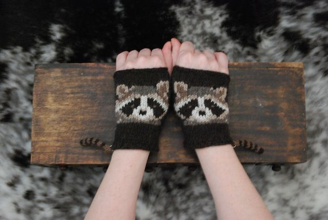Woodsy Wrist-ees knitted by Tiny Owl Knits