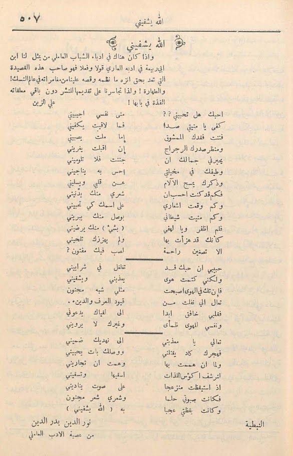مدونة جبل عاملة شعر السيد نور الدين بدر الدين Blog Posts Blog Post