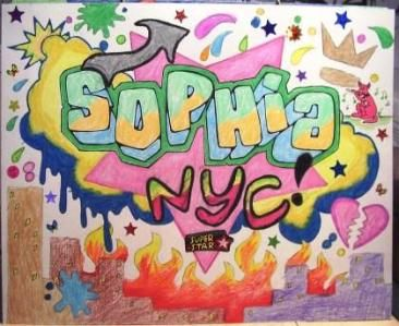 grafitti name art
