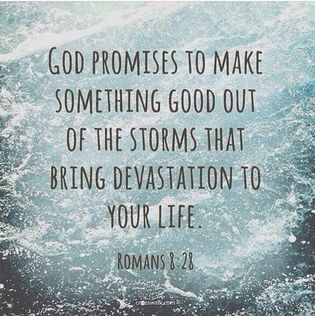 """don't look at everything so negative. like it says """"God promises to make something good come out of the storms..."""" just be more patient & pray to God, don't force good things to happen. go w the flow & accept what God have you as a choice. He knows what's best for you, in a way you can say he's tryna get your attention so you could become closer w him. keep in mind, it's a test. be careful what you do or say. you can choose which way to sin but you can't choose the consequence for it."""