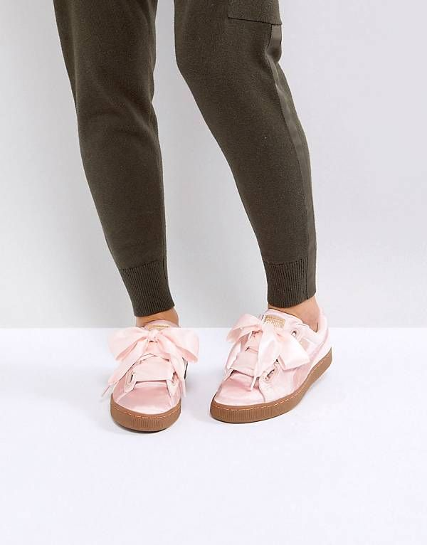 3d2b51d7bf8 Puma Basket Heart Trainers in Pink Velvet