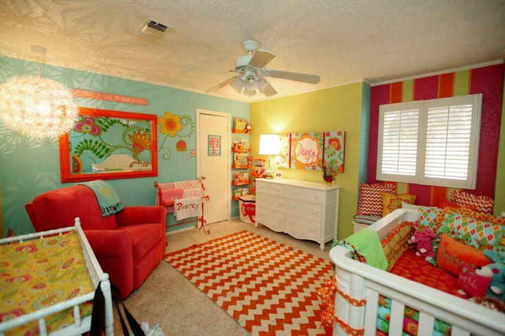 93 best images about orange nursery on pinterest project for Bright orange bedroom ideas
