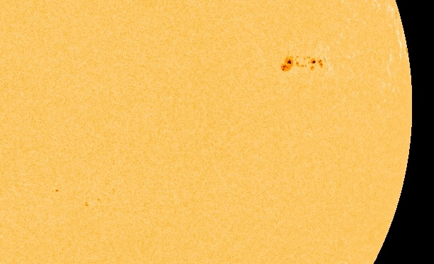 Yesterday, sunspot AR1620 was barely visible. Today it is a behemoth wider than a half-dozen planet Earths. NASA's Solar Dynamics Observatory recorded the sunspot's rapid growth in a period of less than 20 hours on Nov. 25-26. AR1620 has a beta-gamma magnetic field that harbors energy for strong flares. Because of the proximty to the center of the solar disk, Earth would be in the line of fire of any eruptons. NOAA forecasters estimate a 30% chance of M-class solar flares in the next 24…