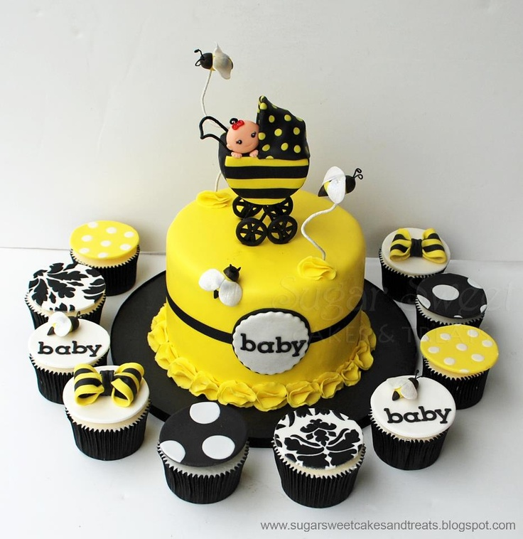 Bumble Bee Baby Shower Cake...not To Crazy About The Topper