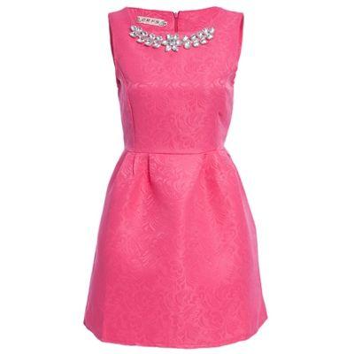 Elegant A-Line Dress (also in Black, Blue, Pink, White)