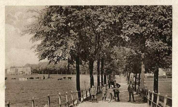 Vanaf de spoorwegovergang (voor 1920)