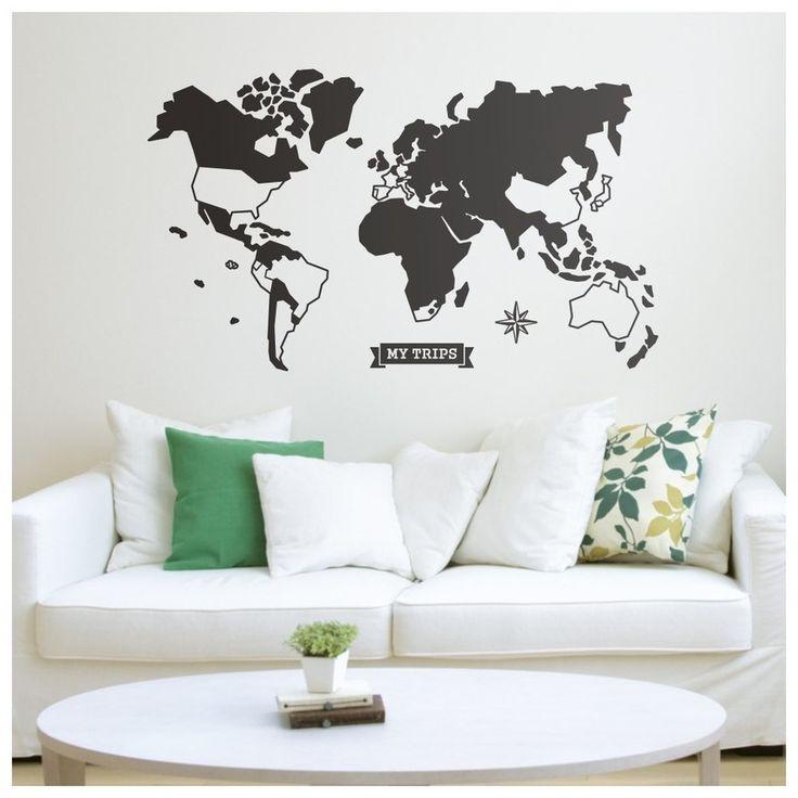 17 melhores ideias sobre adesivo mapa mundi no pinterest - Papel pared mapa mundi ...