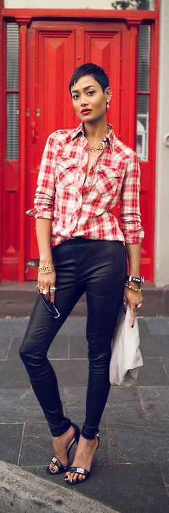 Leather  Plaid / Micah Gianneli
