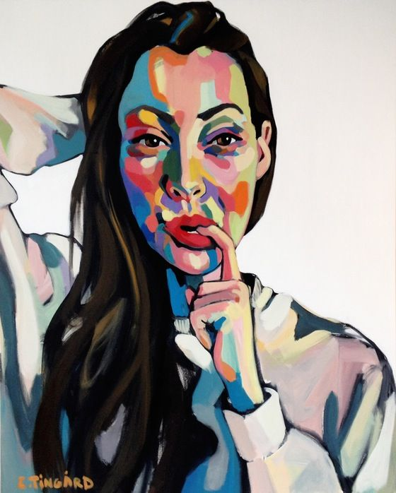 Selfie, by Swedish Artist Emma Tingård. Art, painting, portrait, art poster, art print