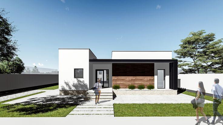 Proiect casa FLATRO. Parter   3 camere   128 mp. Mai multe detalii gasiti aici: http://www.uberhause.ro/proiect-casa-parter-128-m2-flatro