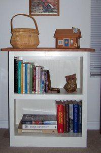 Completed free bookshelf plans were made with Kreg pocket jig.