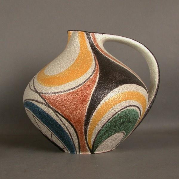 Collectors item. Ceramic vase. Ruscha Milano 313. Tschörner. 1954 - 1960. / Icono de diseño. Florero de cerámica. Ruscha Milano. / Design Ikone. Keramikvase. Ruscha Milano. Tschörner. 1954 - 1960.