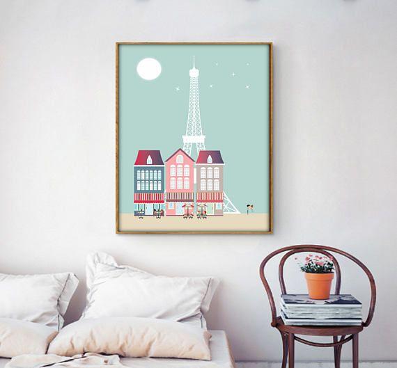 Poster Parislaminas imprimibles5 TAMAÑOS INCLUIDOSTorre