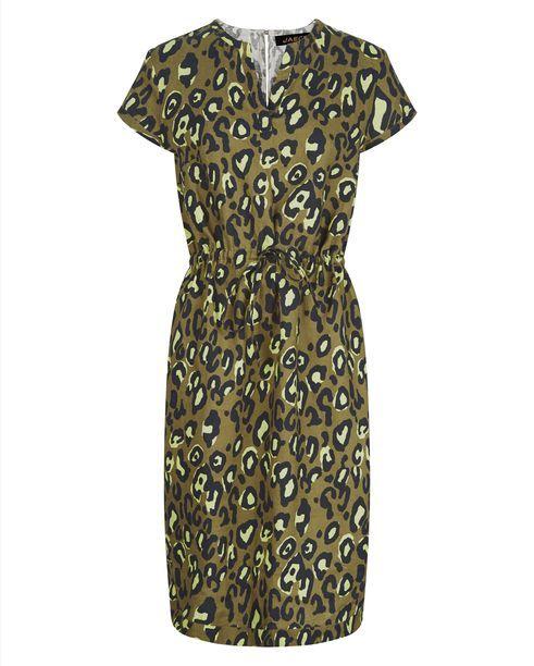 Linen Animal Print Dress   Womens Clothing   Jaeger
