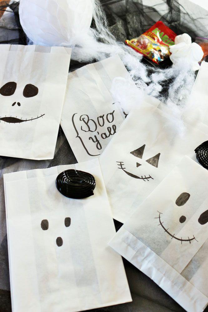 DIY Halloween Süßigkeiten Verpackung aus Papiertüten | All hallows ...