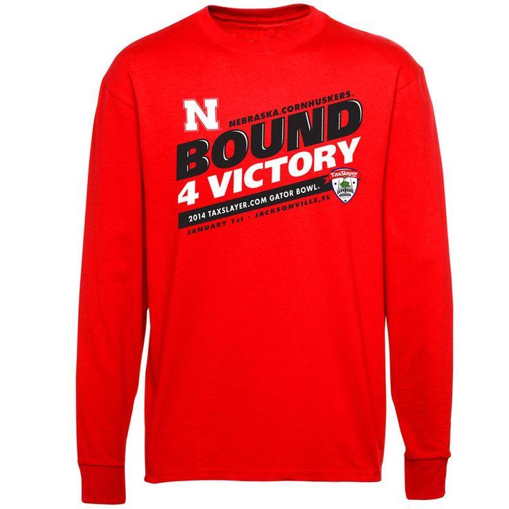 Nebraska Cornhuskers 2014 Gator Bowl Bound For Victory Long Sleeve T-Shirt - Scarlet