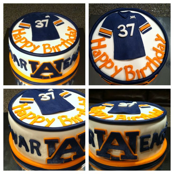 Auburn cake--NOT AN AUBURN FAN BUT THIS IS CUTE