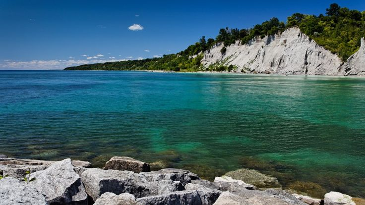The Scarborough Bluffs located north and east of the GTA - Toronto .... huge sandy cliffs located on Lake Ontario.